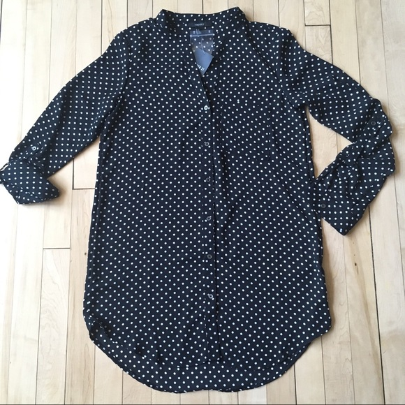 f4597c133373 Forever 21 Tops | Polka Dot Long Sleeve Blouse | Poshmark